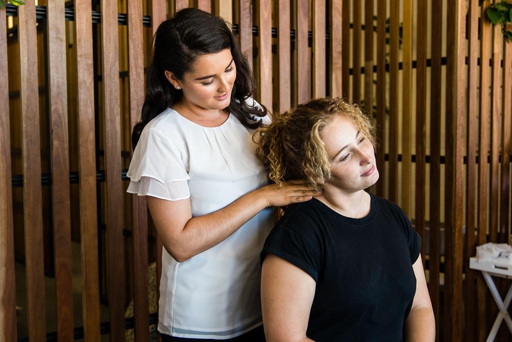 Torquay Chiropractor performing neck adjustment