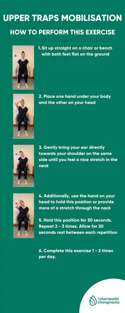 upper traps mobilisation exercise info