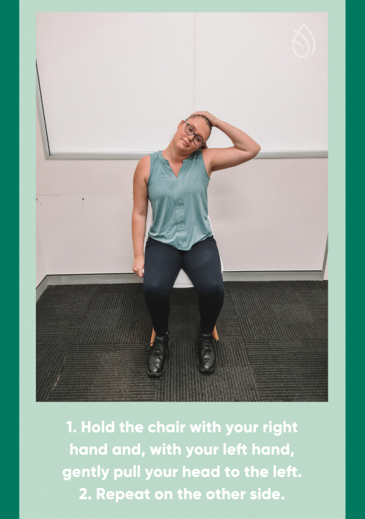 lateral flexion neck stretches infographic