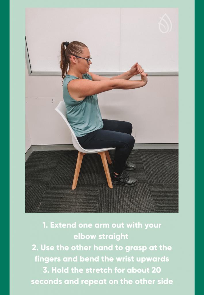 flexor forearm stretch infographic