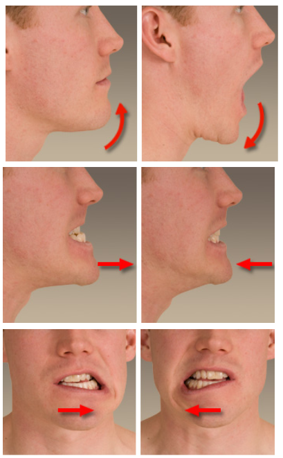 Male performing gentle stretches for TMJ pain